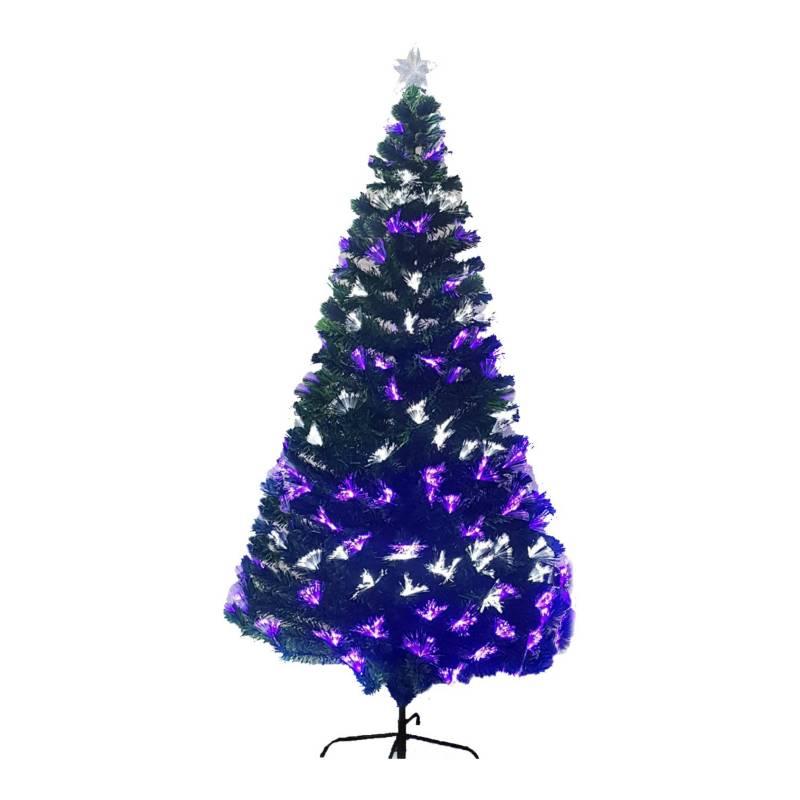 Orquidea - Árbol fibra mix blanco-purpura 210cmsOrquidea