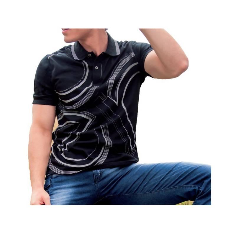MARKETING PERSONAL - Camiseta Polo Juvenil Masculino Negro  44322Marketing Personal