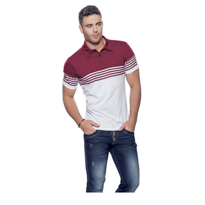 MARKETING PERSONAL - Camiseta Adulto Masculino Blanco Vinotinto  54641Marketing Personal
