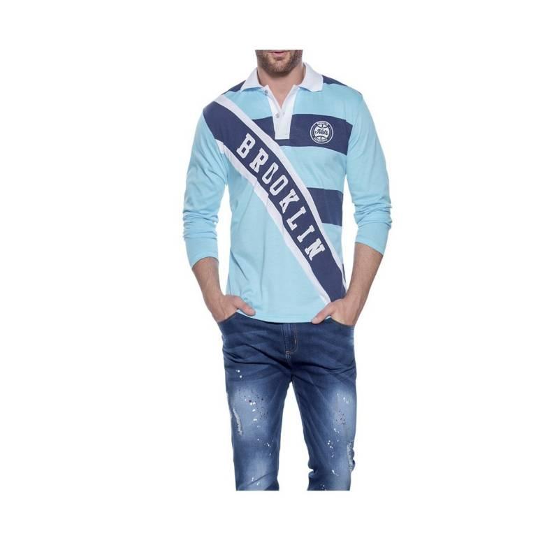 MARKETING PERSONAL - Camibuzo Juvenil Masculino Azul Claro  92083