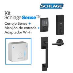 Schlage - Kit Sense Century Negro+Wifi+Manijon