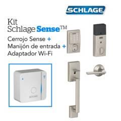 Schlage - Kit sense century satin+wifi+manijon schlage