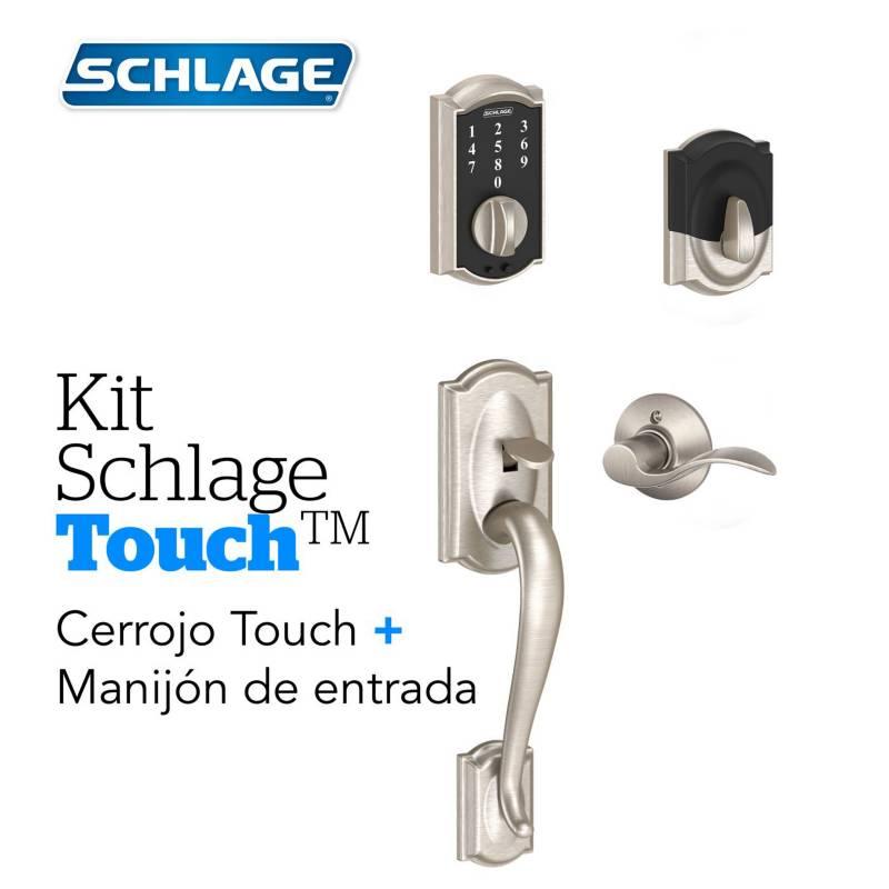 Schlage - Kit Touch Camelot Satin+Manijon Izquierda