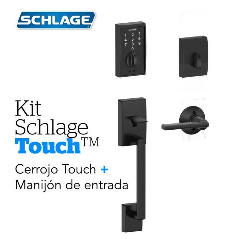 Schlage - Kit Touch Century Negro+Manijon