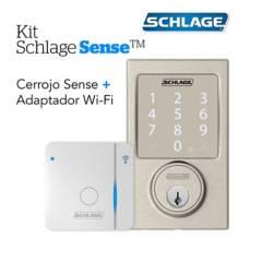 Schlage - Kit Sense Century Satin+Wifi Br400
