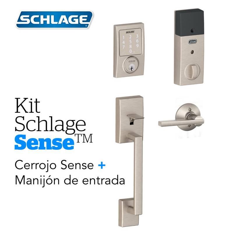 Schlage - Kit sense century satin+manijon schlage