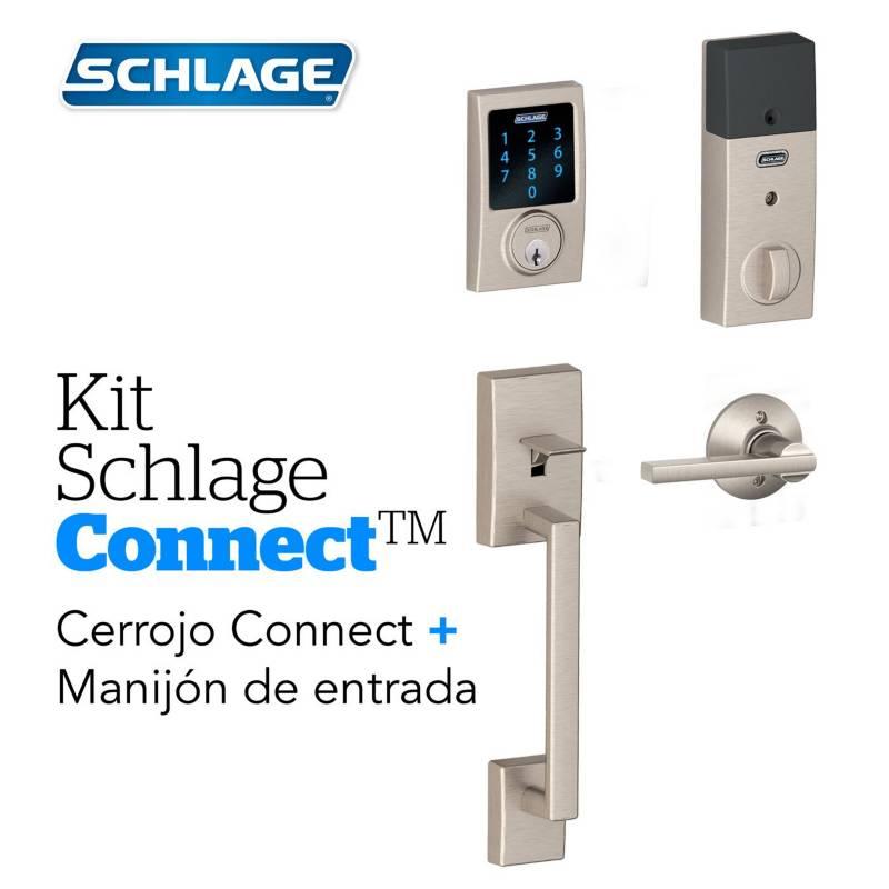Schlage - Kit Connect Century Satin+Manijon
