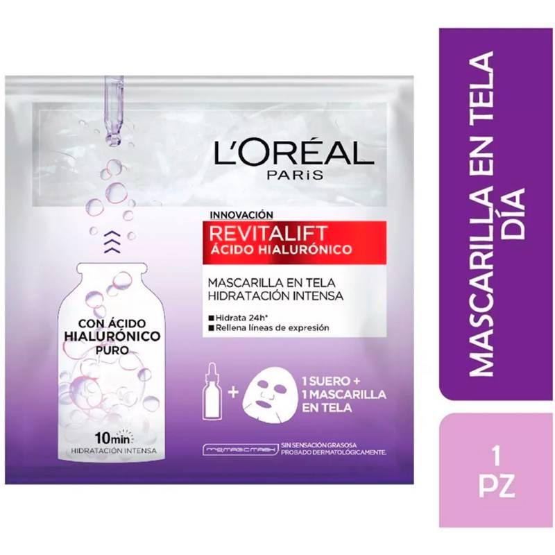 Loreal Dermo Expertise - Mascarilla Revitalift Ácido Hialurónico en Tela Hidratación Intensa 33 g Loreal Dermo Expertise