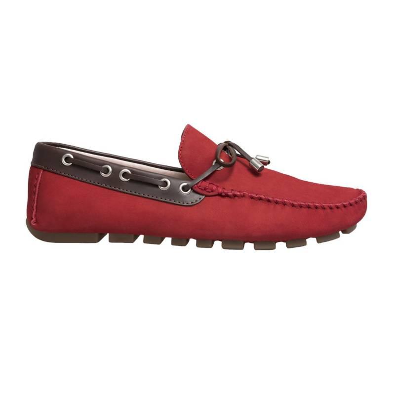 F NEBULONI - Zapato Hombre F.Nebuloni Casual Tipo Mocasín Rojo
