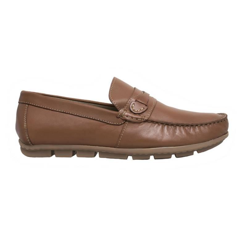 F NEBULONI - Zapato Hombre F.Nebuloni Casual Tipo Mocasín Miel