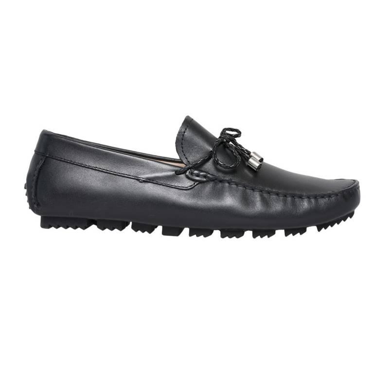 F NEBULONI - Zapato F.Nebuloni Casual Tipo Mocasín Negro