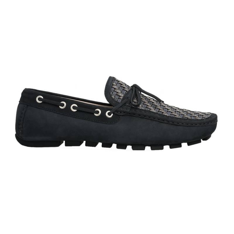F NEBULONI - Zapato Hombre F.Nebuloni Tejido Mocasín Azul