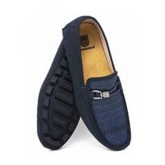 F NEBULONI - Zapato Hombre F.Nebuloni Casual Tipo Mocasín Blue