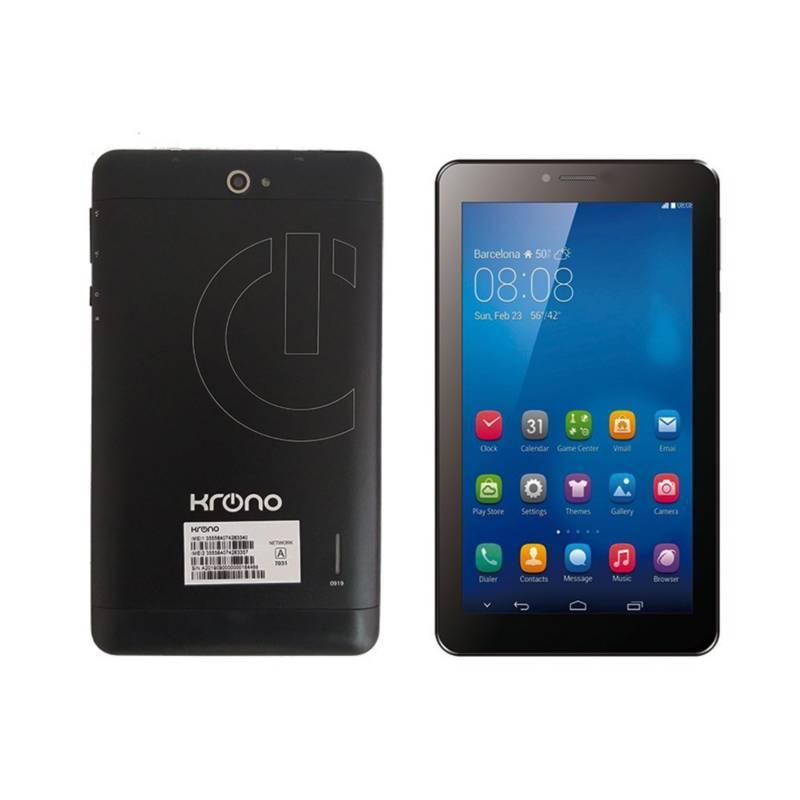 KRONO - Tablet Celular Krono 3 g  1 gb Ram, dos Sim, negro