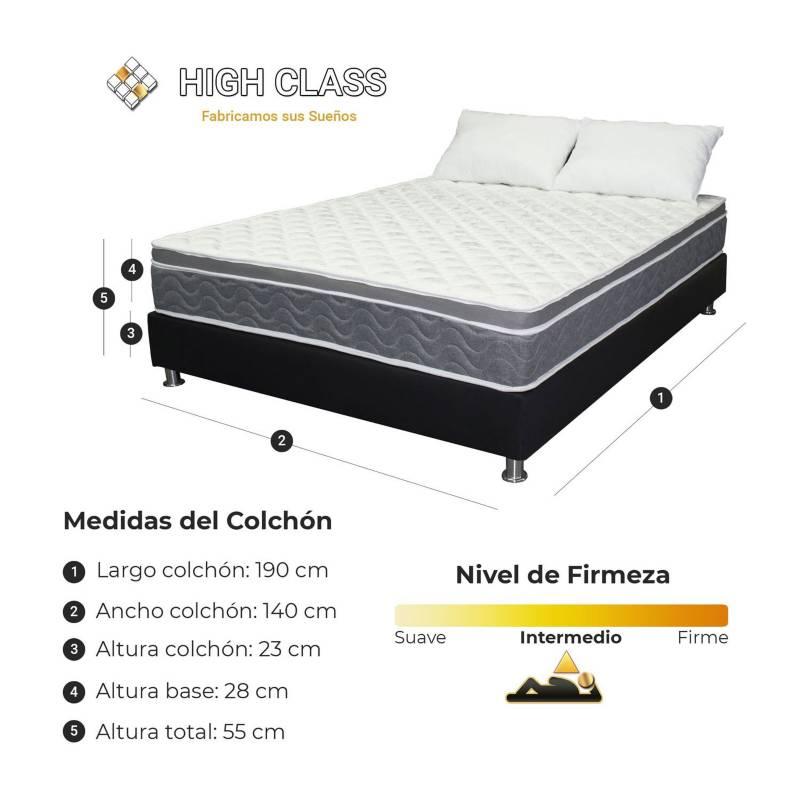HIGH CLASS - Colchón Con Base Doble 140 Cambridge Soft