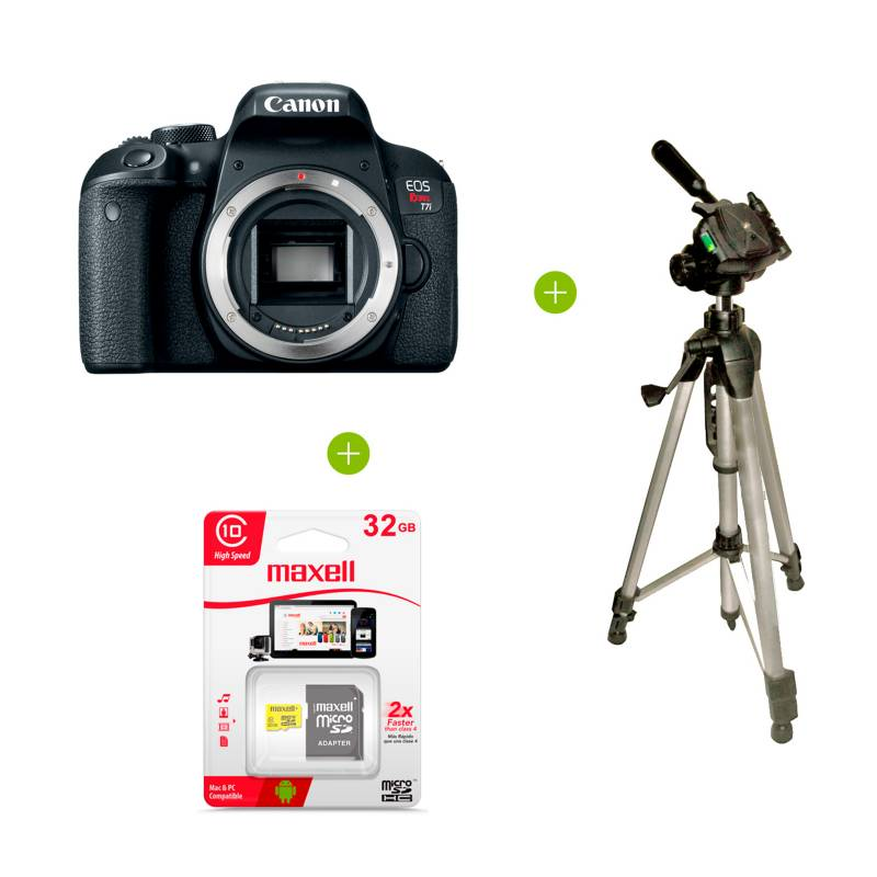 Canon - Cámara Canon Rebel T7i 18-55mm 24.1MP