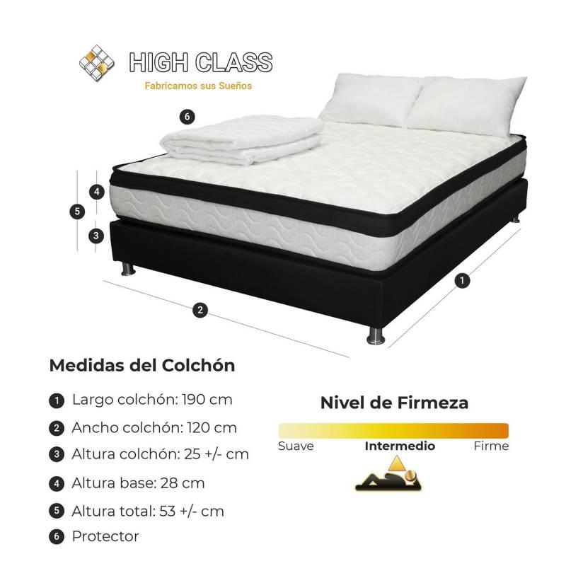 HIGH CLASS - Colchón Con Base Semidoble 120 Menphis Special