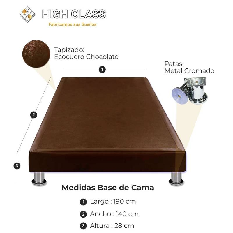 HIGH CLASS - Colchon Con Base 140 Doble Stanfort Relax