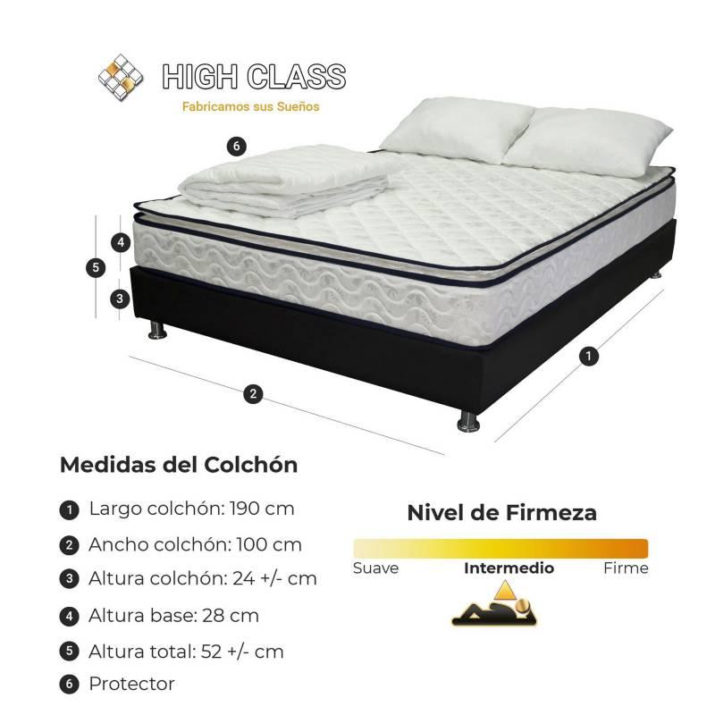 HIGH CLASS - Colchón Con Base Sencillo 100 Stanfort Relax