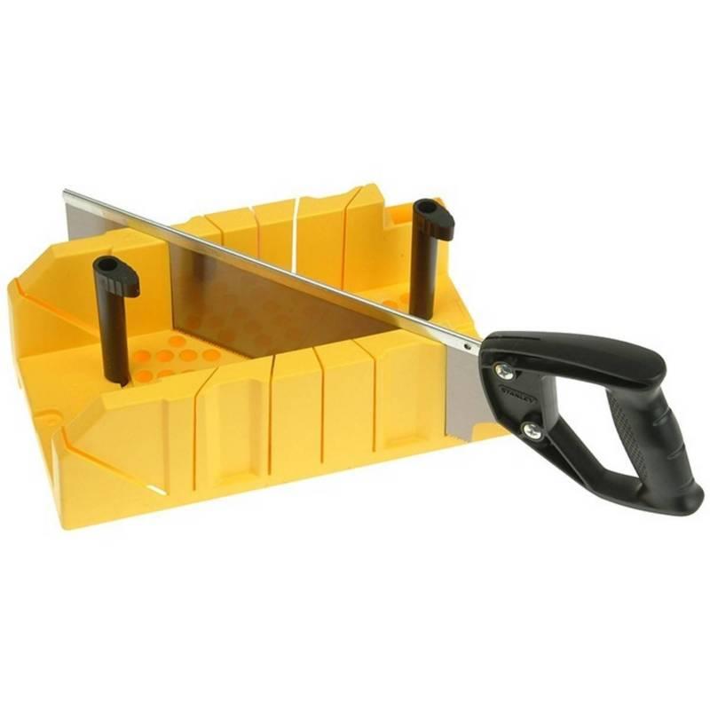 Stanley - Caja de inglete profesional con serrucho Stanley