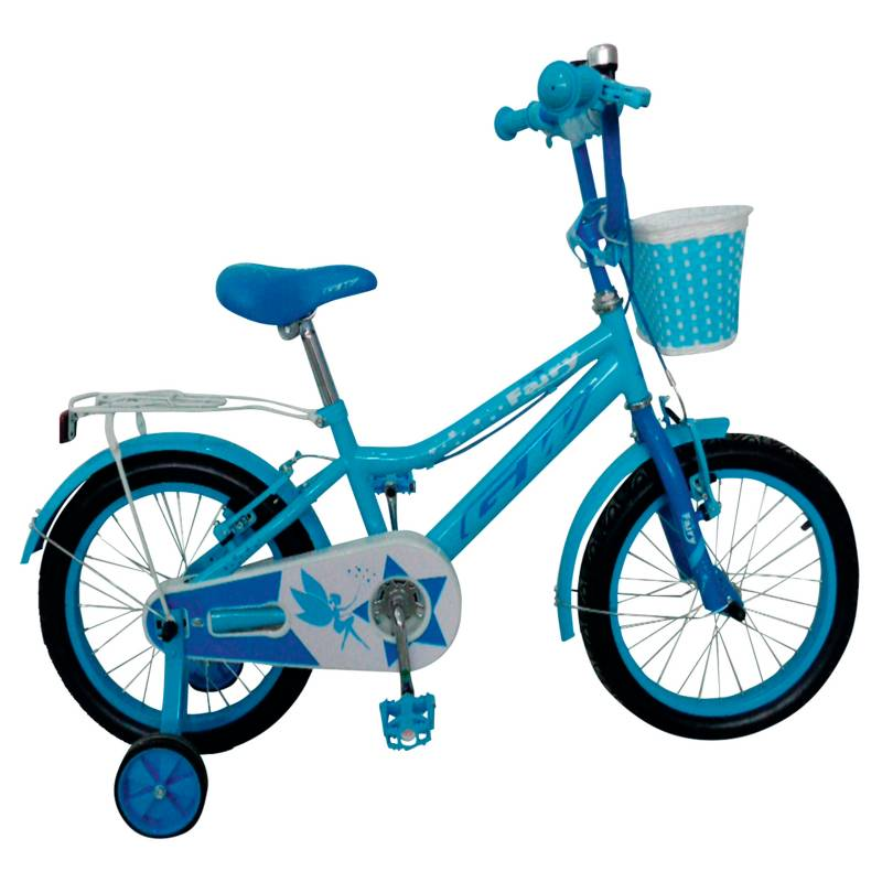 GW - Bicicleta Infantil 16 pulgadas Azul Cielo