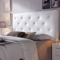 Combo Ilusión colchón +espaldar+basecama 140 blanco perl