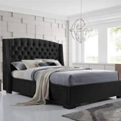 EKONOMODO - Colchon con base cama king + espaldar italia negro