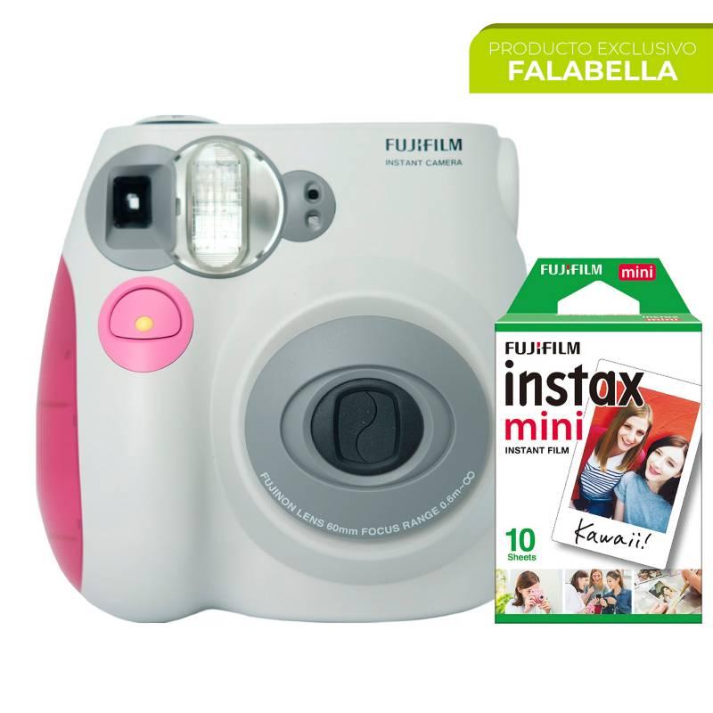 Fujifilm - Cámara Instantánea Fujifilm Mini 7S + Papel x 10