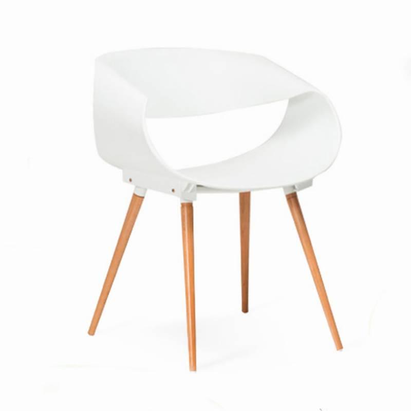 EKONOMODO - Silla Nordic 54.5x63x73 Blanco