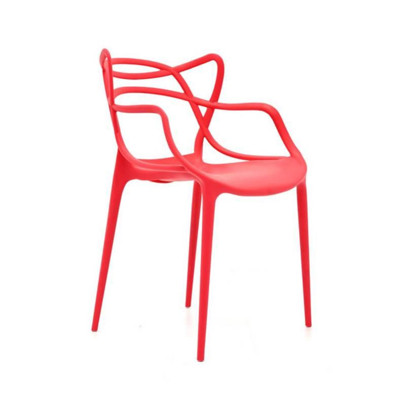 EKONOMODO - Silla curva streem adult 56x55x83 cm rojo