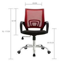 Silla Colors 50x56x99 Rojo / Negro