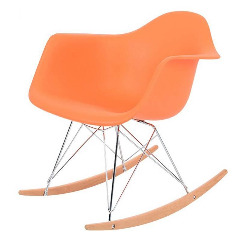 EKONOMODO - Silla eames mecedora da 70x62.5x40 naranja