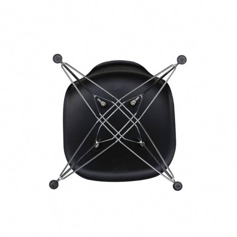 EKONOMODO - Silla eames moderna patas hierro 53x46x83 negro