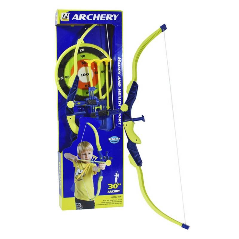 Super Sport - Set de arco y flechas con Blanco 3+
