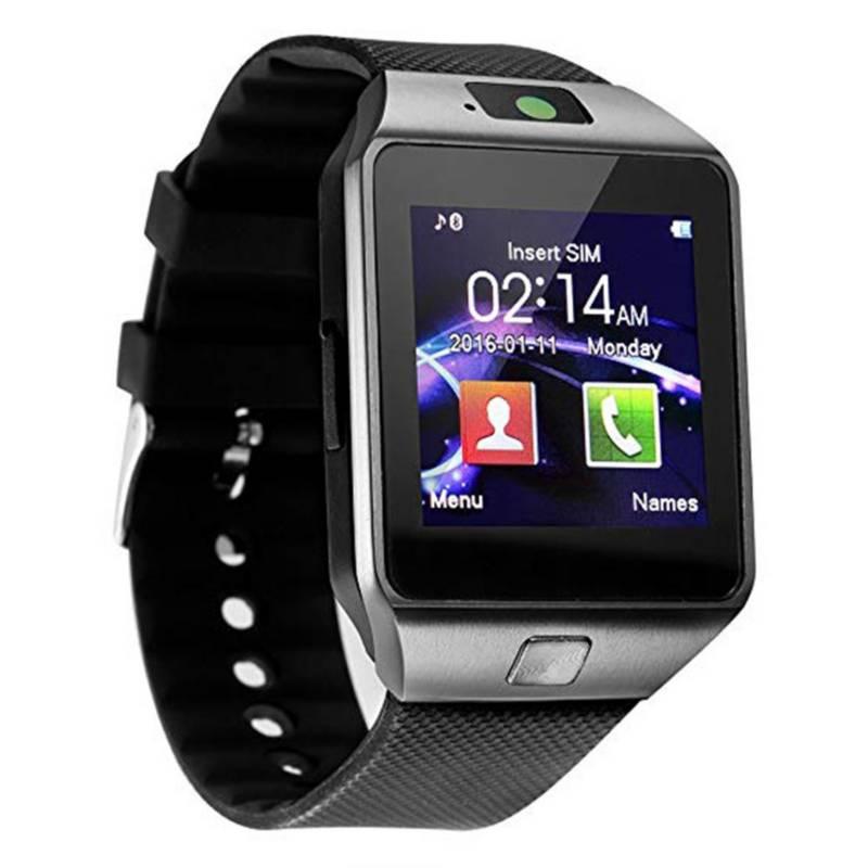 - Reloj smartwatch sim, cámara, bluetooth, plateado