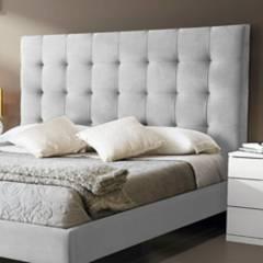 EKONOMODO - Colchon con base doble + espaldar luxury gris perla