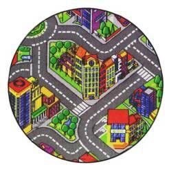 Cuperz - Tapete Infantil Big City Redondo
