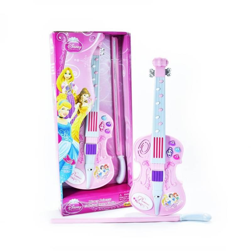 Disney - Violín musical Princesas rosado niña 4+
