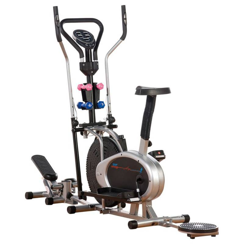 DP FIT FOR LIFE - Elíptica 10 en 1 escalador twister silla radio pesas