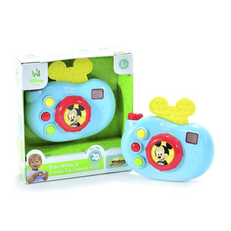Disney - Cámara de juguete con luces y sonidos Mickey Mouse