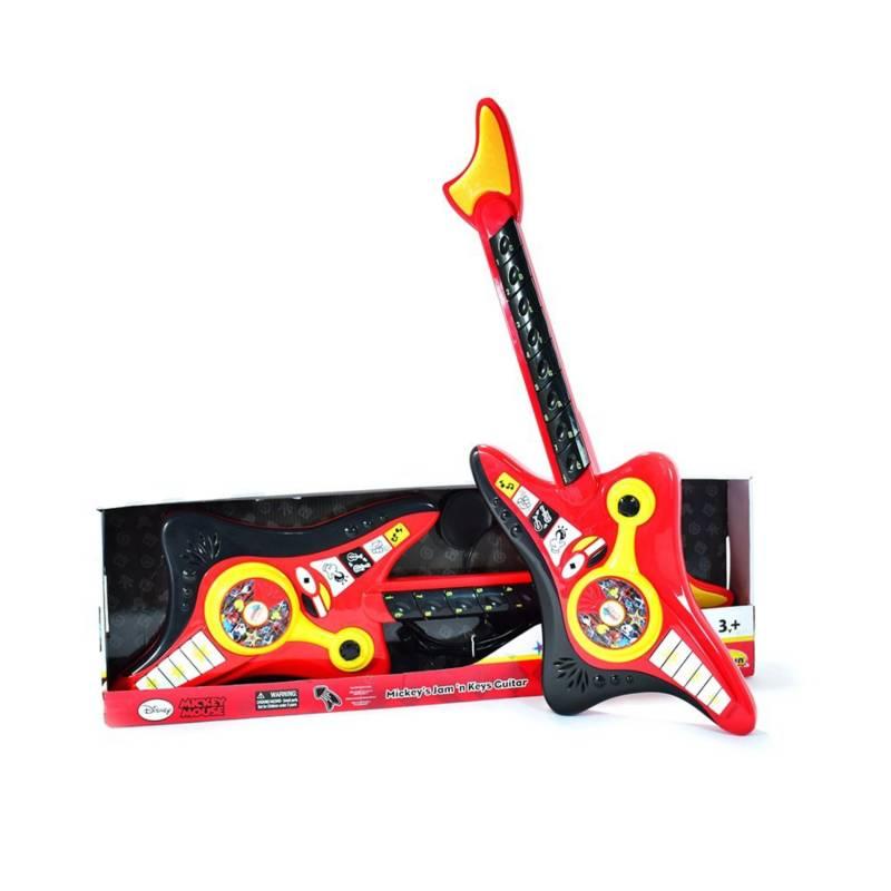 WinFun - Guitarra eléctrica con audífonos Mickey roja y negro