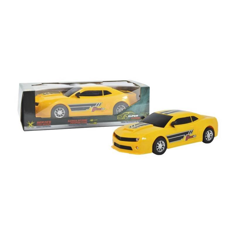Collection Car - Carro deportivo de fricción amarillo con luces
