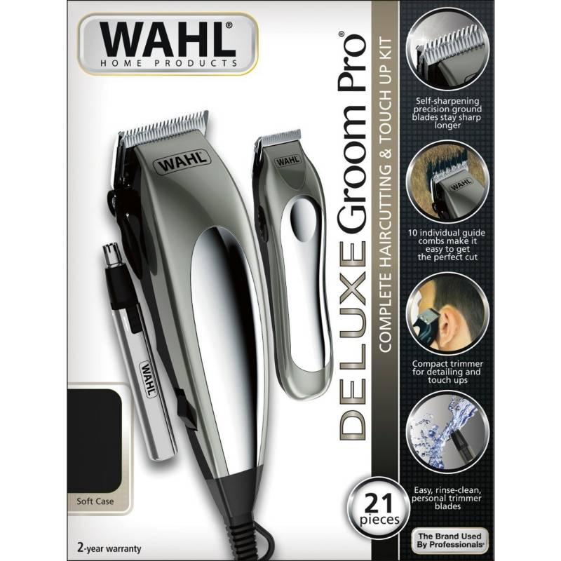 Wahl - Combo maquinas deluxe groom pro 21piezas79305-3608