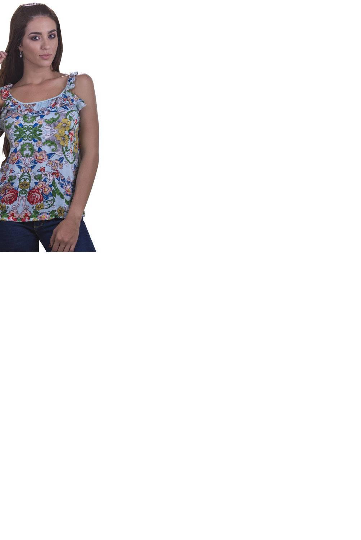 Bocared - Blusa Oriana para dama con escote en delantero