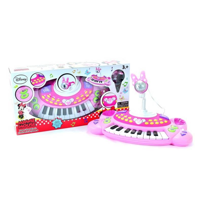 WinFun - Centro musical pequeño teclado y micrófono Minnie