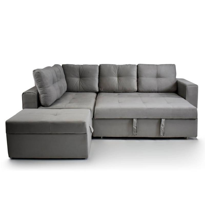 Relax Home - Sala Rinconera Multifuncional + Puff Prime Tela