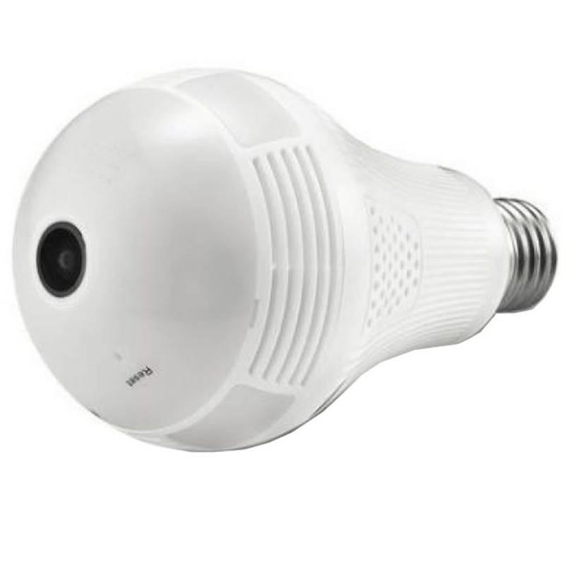 Danki - Bombillo espia microfono 360 wifi luz led sd cámara