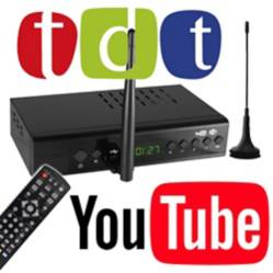 Decodificador tdt wifi youtube hd USB control remoto