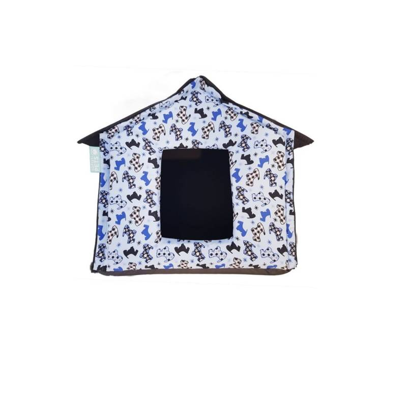 SofistiPets - Casa lona armable azul - sofistipets