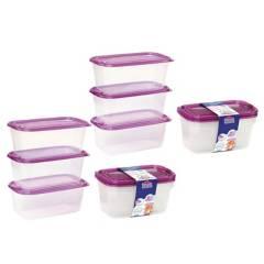 Plastihogar - Set x6 Recipientes 1050 ml